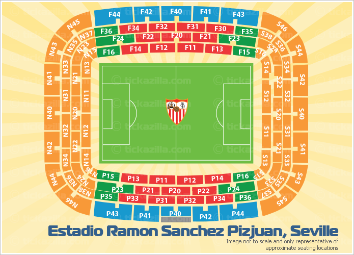 Estadio Ramon Sanchez Pizjuan, Seville, Spain