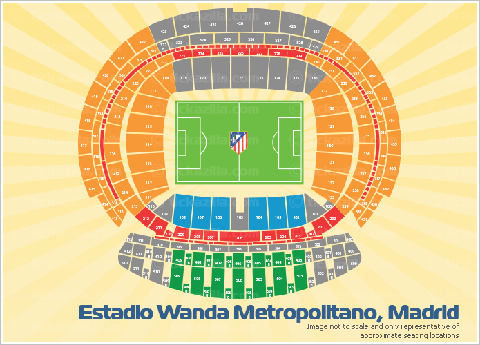 Estadio Wanda Metropolitano, Madrid, Spain